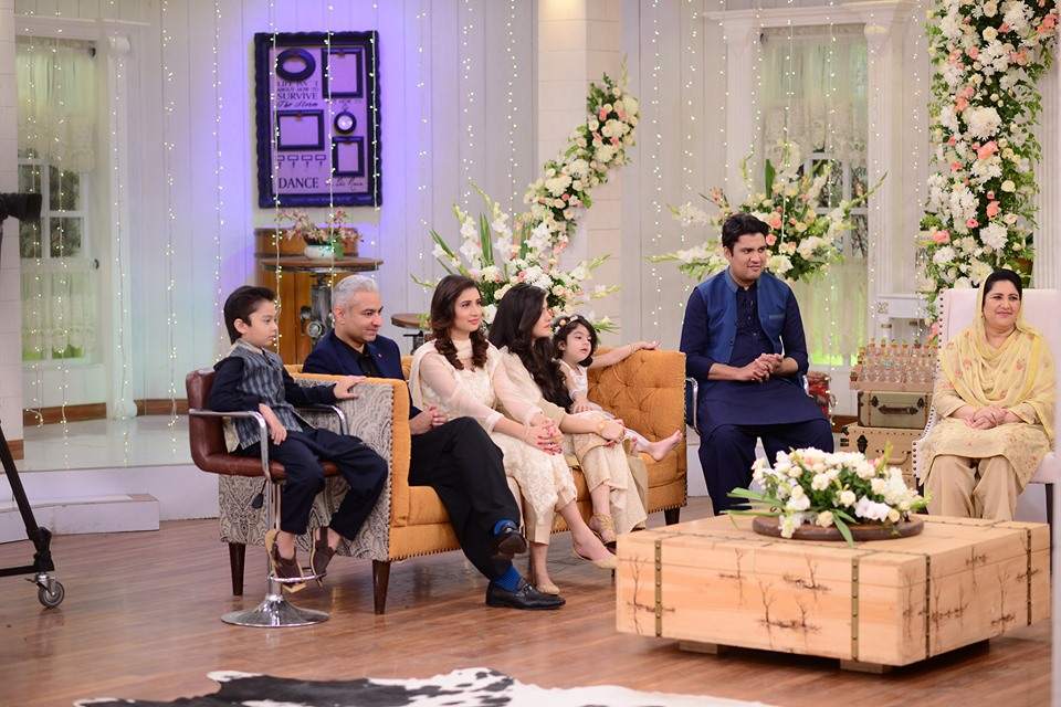 Iqrar ul Hassan with his Whole Family in Nida Yasir Morning Show