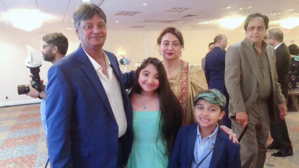Javeria Saud with Family at a Wedding Event in USA