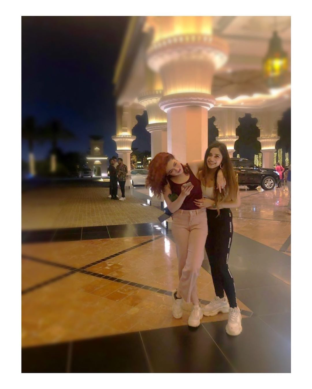 Beautiful Stars Aima Baig and Hania Amir in Dubai