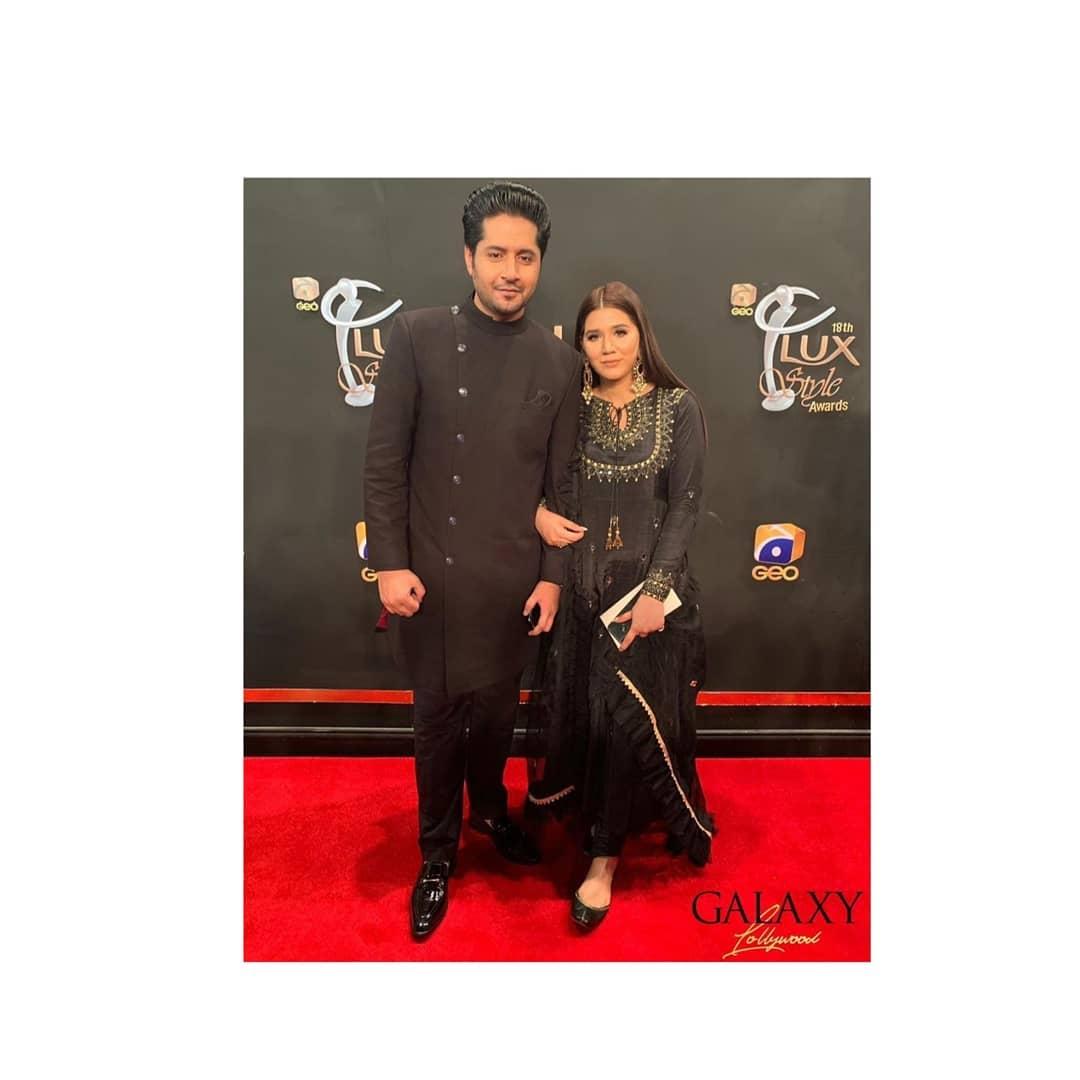 Imran Ashraf aka Bhola with Wife Kiran at Lux Style Awards
