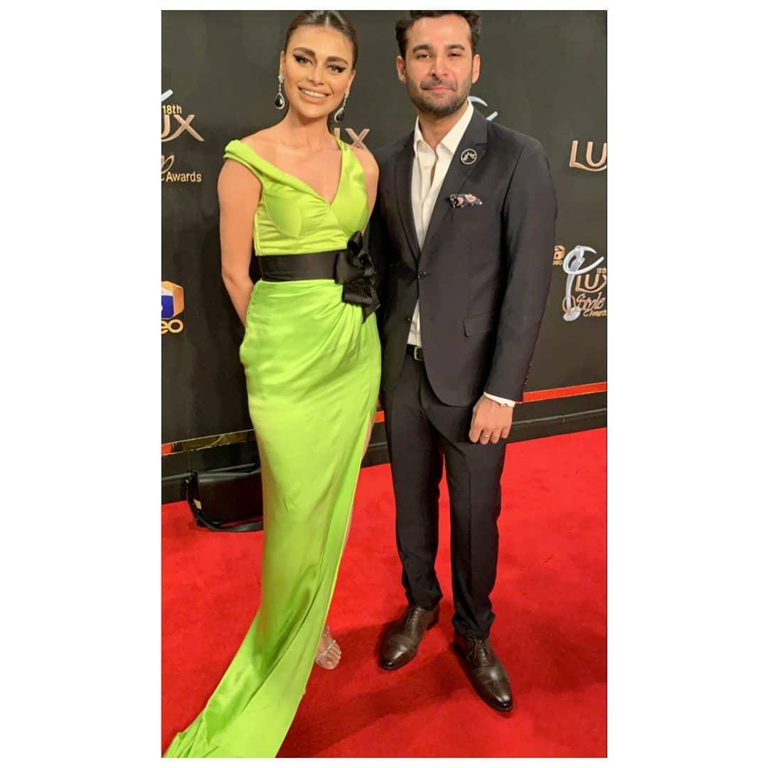 Sadaf Kanwal Stunning Clicks from Lux Style Awards 2019