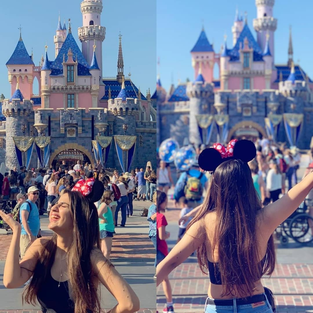 Beautiful Saboor Aly Awesome clicks in Disneyland