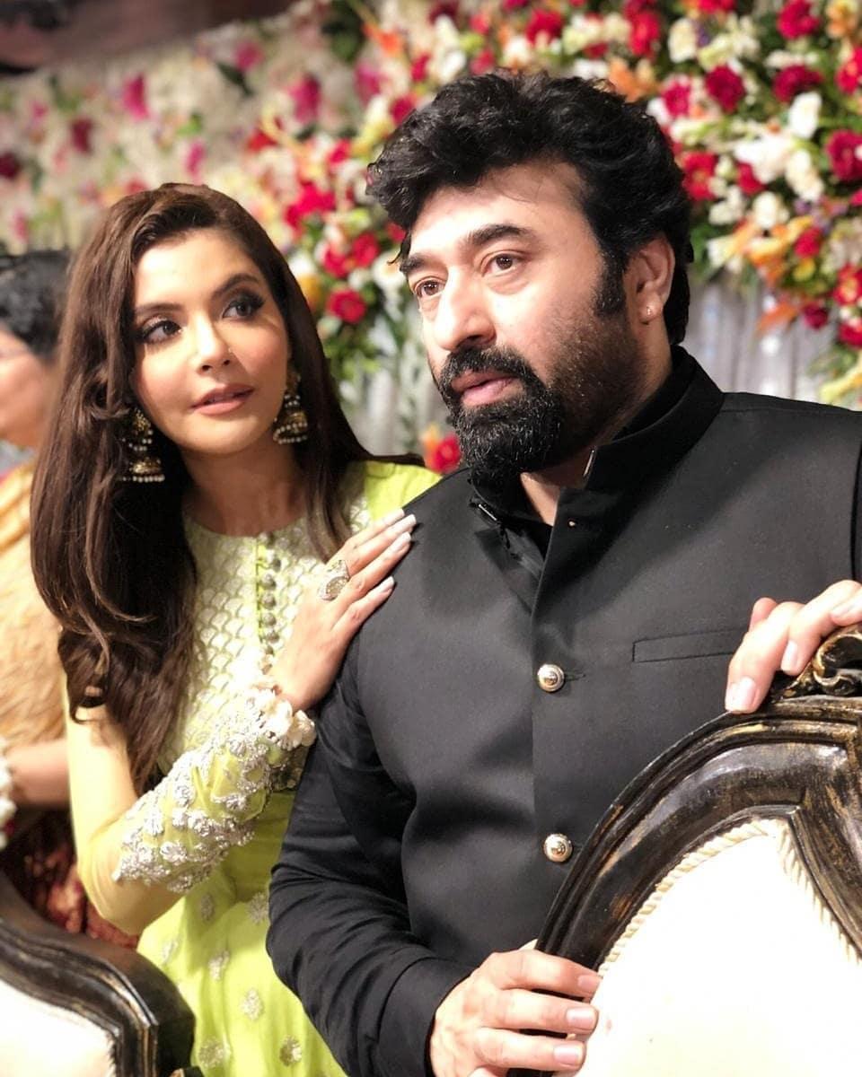Nida Yasir at the Engagement of his Brother Talha Pasha