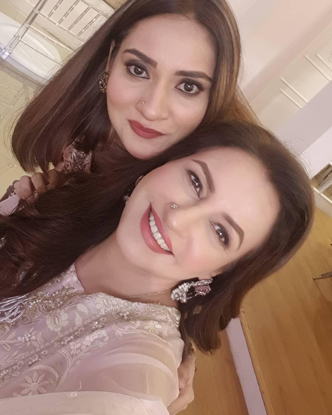 Saba Faisal Celebrating Eid with her Family