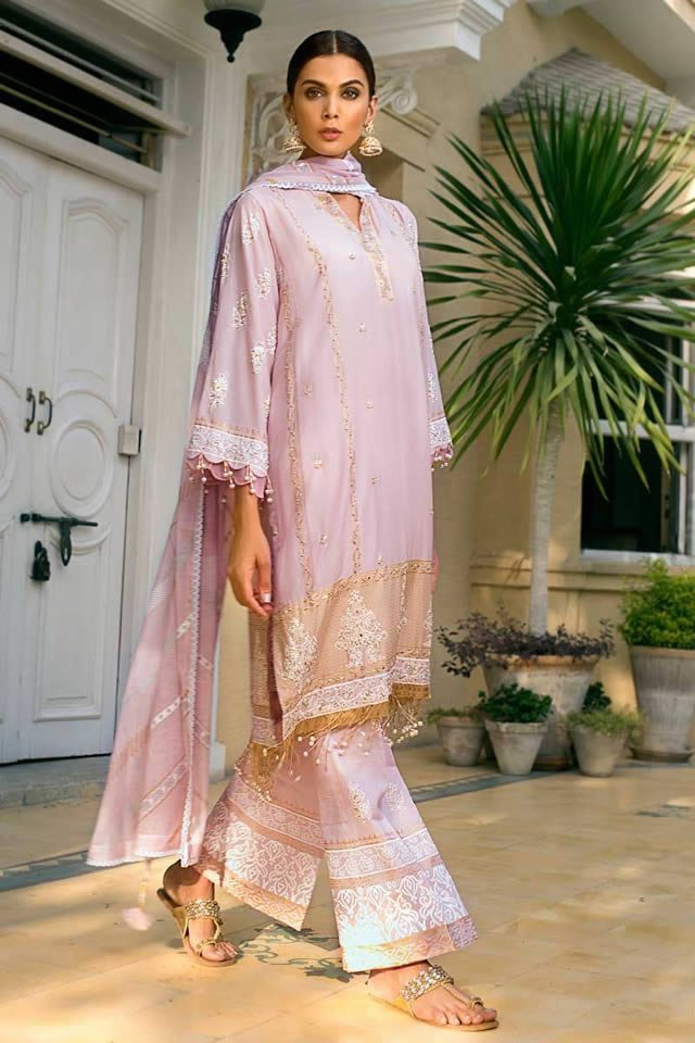 Gul Ahmed Embroidered Cotton Silk Collection For 2019