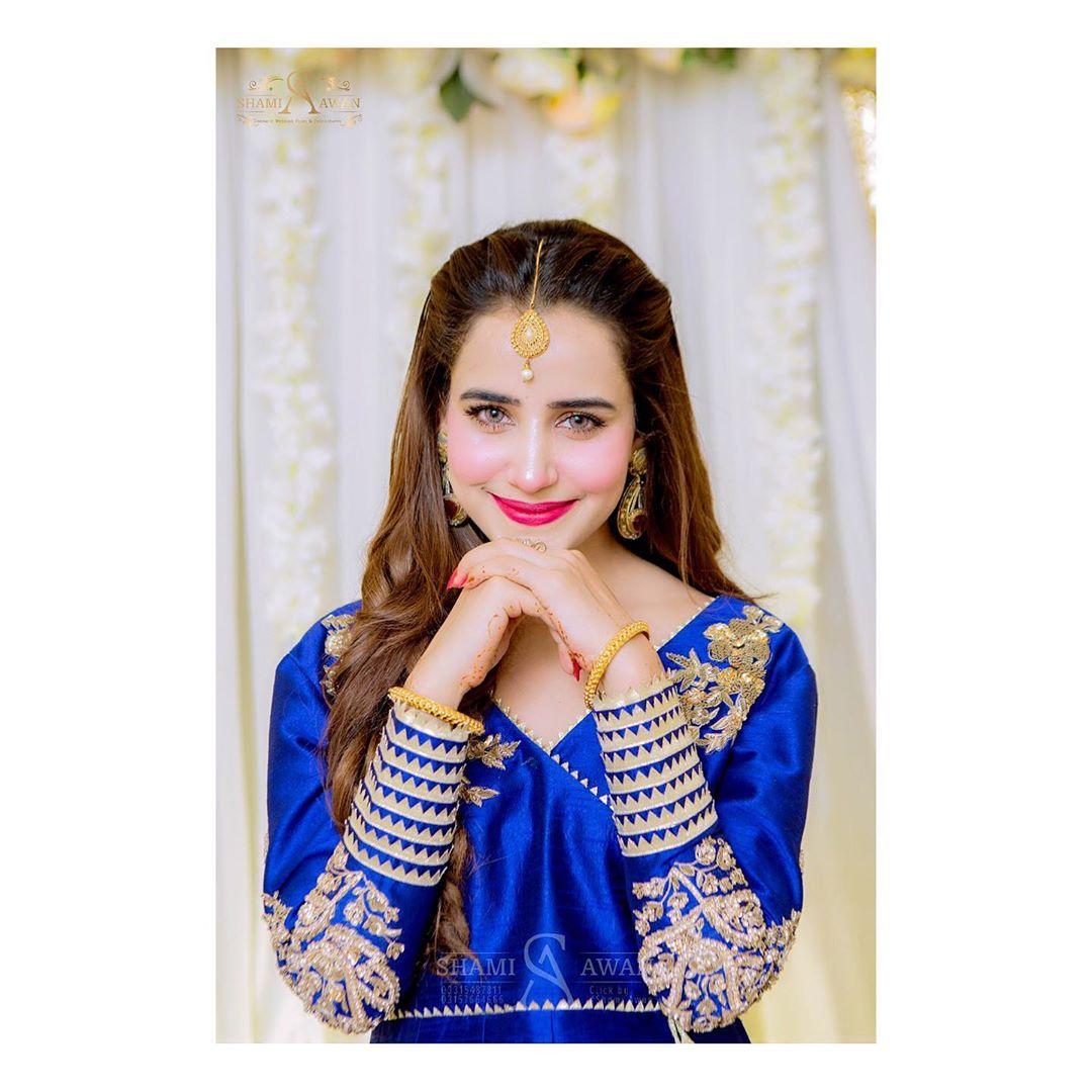 Blue with Beauty - Saniya Shamshad Gorgeous Looks