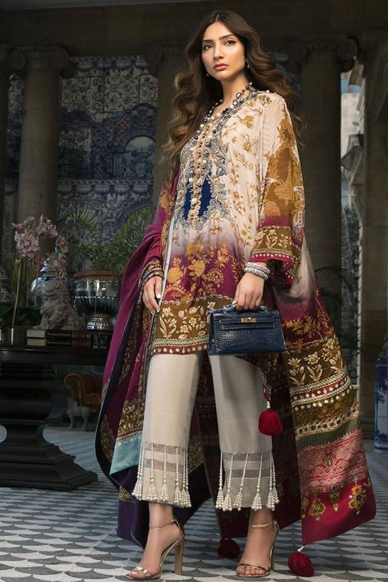 Stylish Sana Safinaz Winter Silk Collection 2019