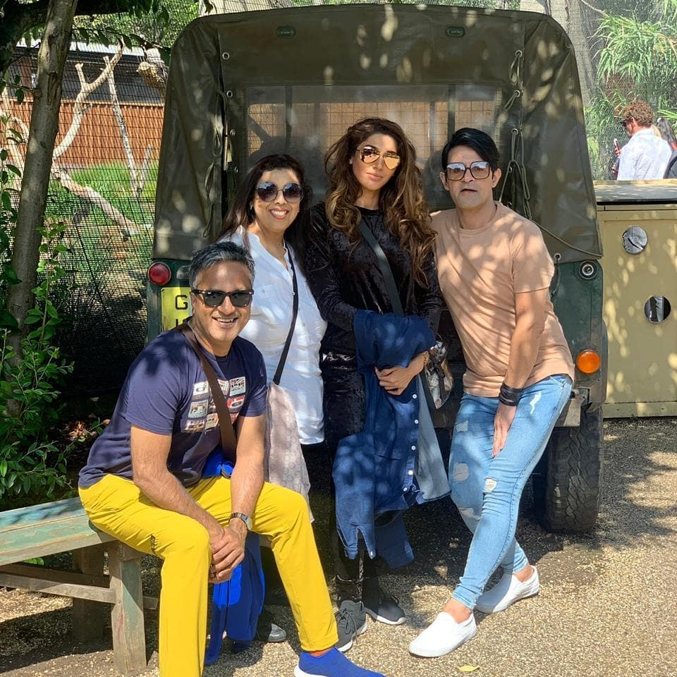 Clicks of Sana Fakhar with her Husband and Kids in London
