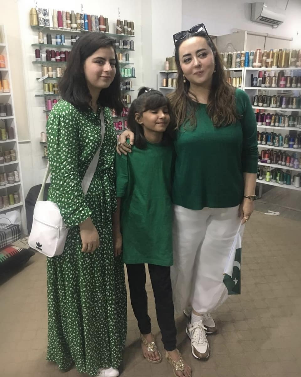 New Awesome Photos of Maria B with her Son and Daughter Fatima B