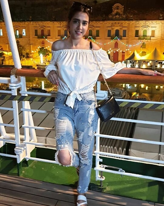 Beautiful Mansha Pasha Dreamy Getaway to Malta