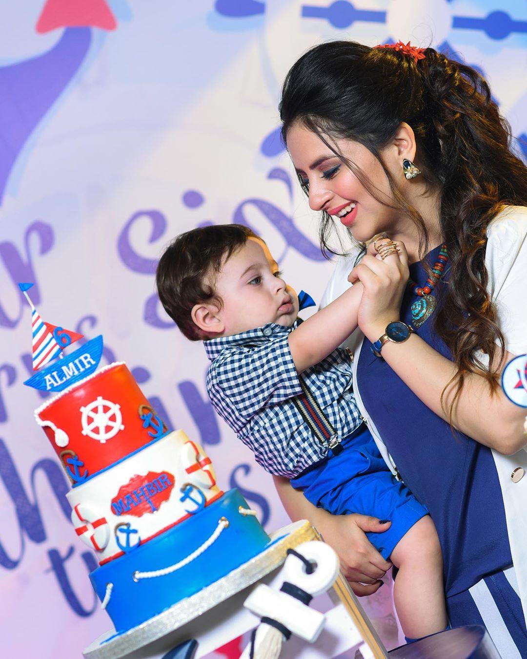 Fatima Effendi and Arsalan Celebrating Their Son Mahbir's First Birthday