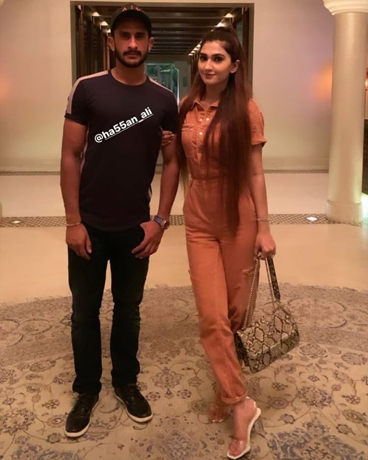 Awesome Pictures of Cricketer Hassan Ali with Wife