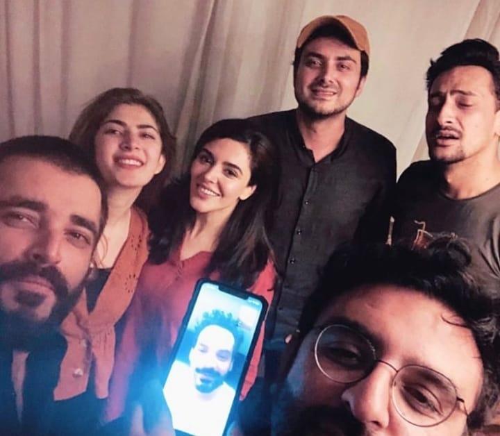 Hamza Ali Abbasi and Naimal Khawar at Dinner with Friends