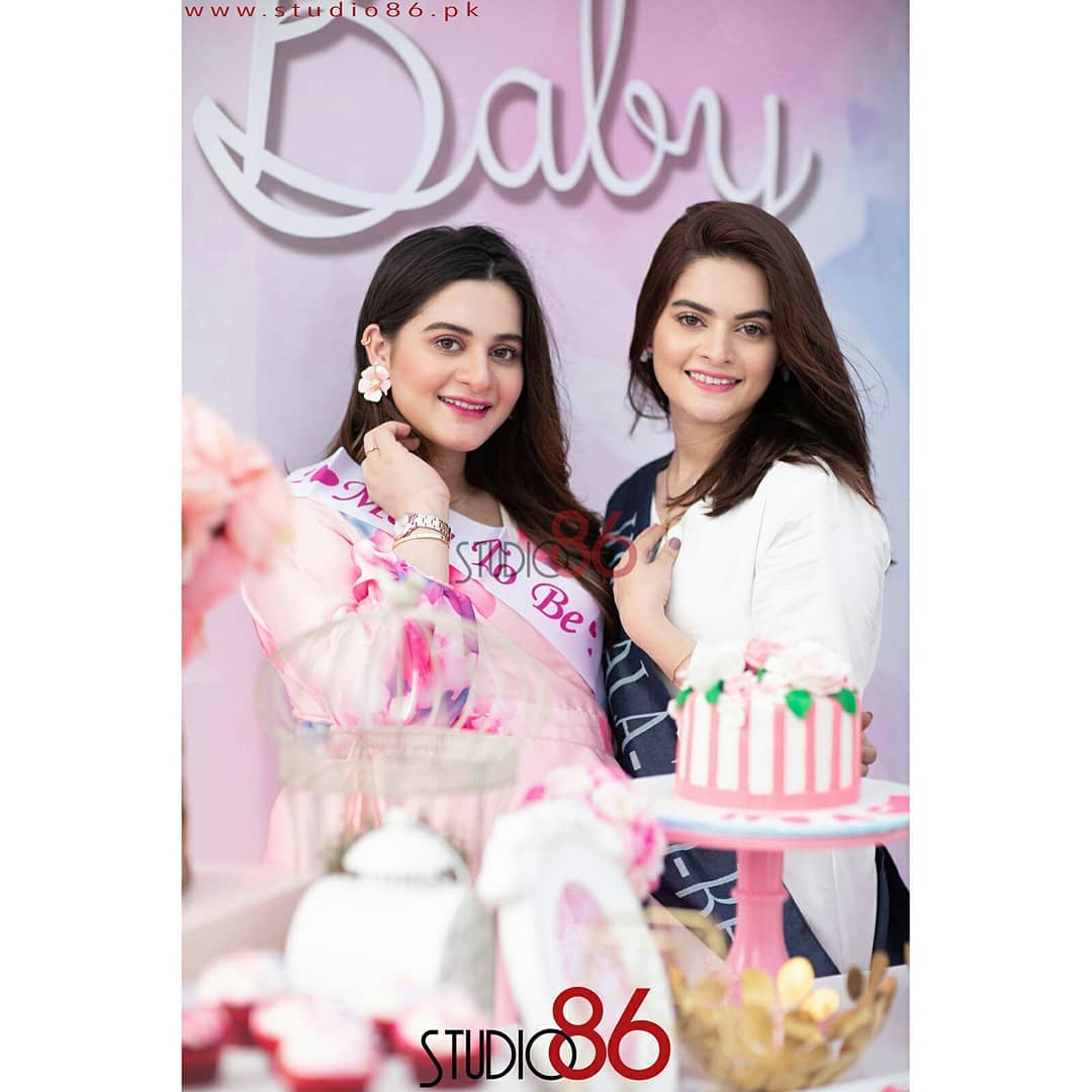 Finally Aiman Khan Baby Shower HD Clicks are Out