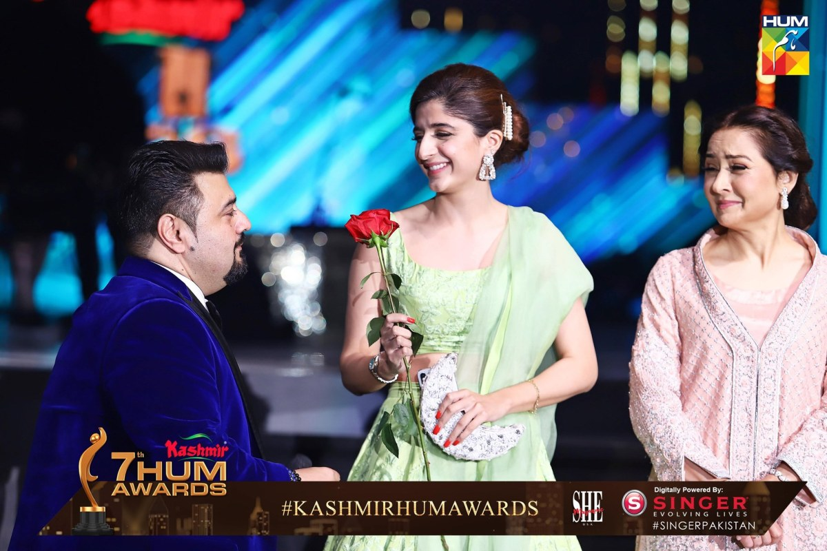 Beautiful Pictures of Pakistan Celebrities from Hum Awards 2019