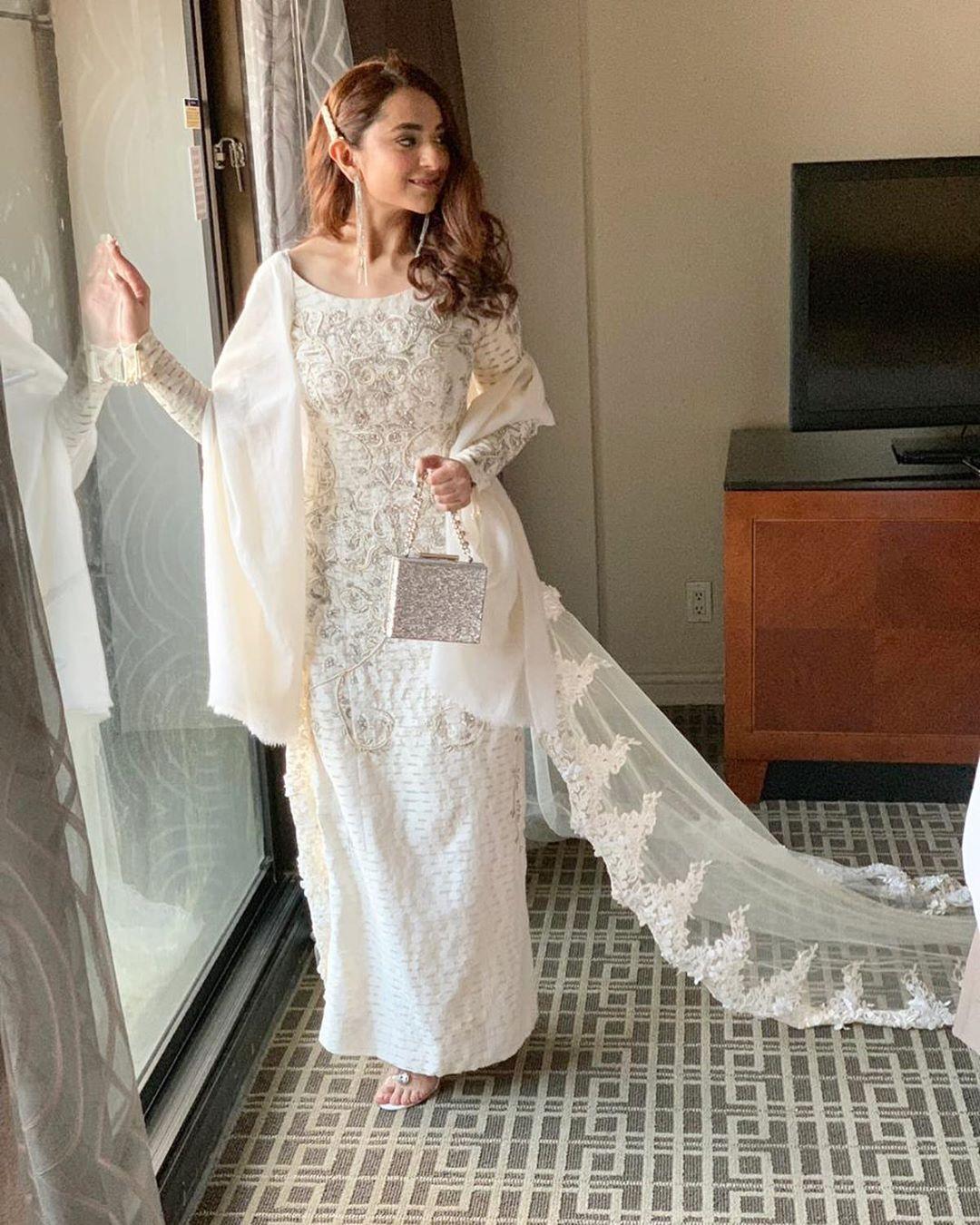 Actress Yumna Zaidi at Hum Awards 2019