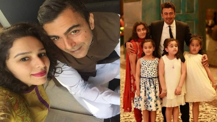 Awesome Clicks of Actor Shan Shahid with Family