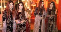 Aima Baig and Momina Mustehsan Spotted at Wedding Event