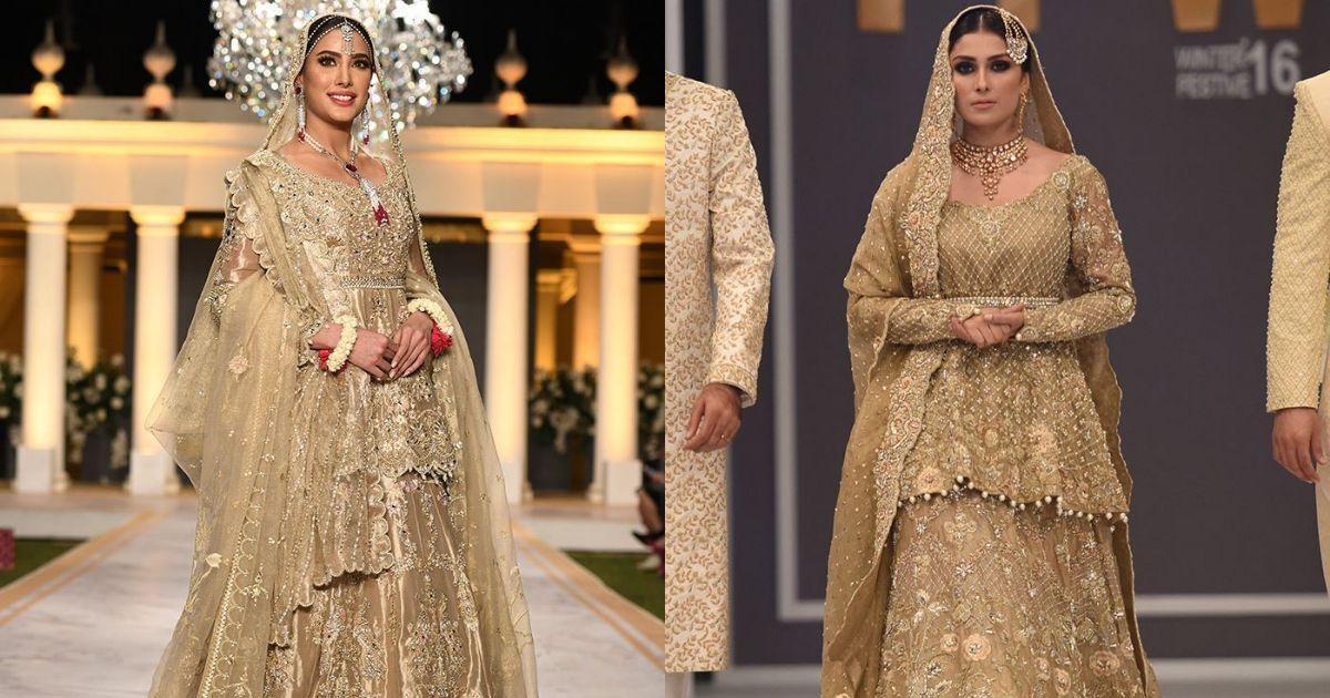 Deepak Perwani Tradional Bridal Golden Collection 2020 for Barat and Walima