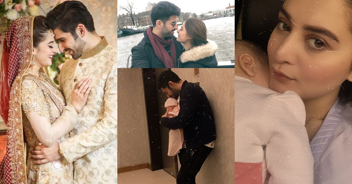 First Wedding Anniversary Pictures of Aiman Khan and Muneeb Butt