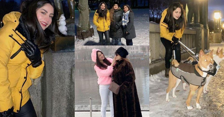 Beautiful Neelam Muneer Khan Enjoying Winter in Norway