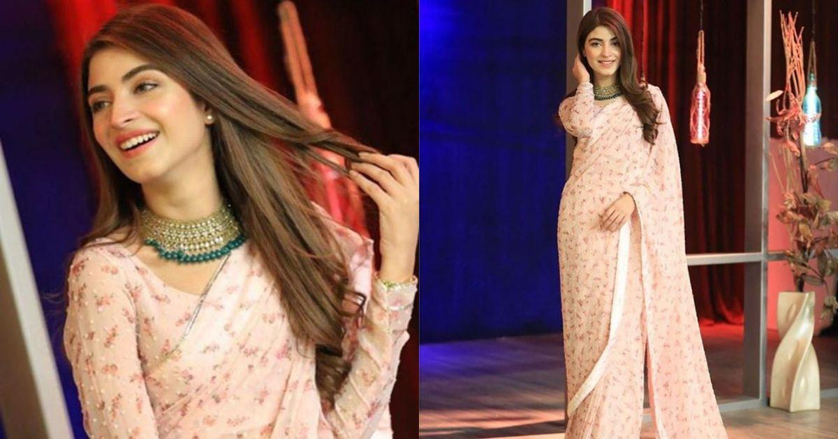 Kinza Hashmi Stunning Looks from the set of Bol Nights with Ahsan Khan