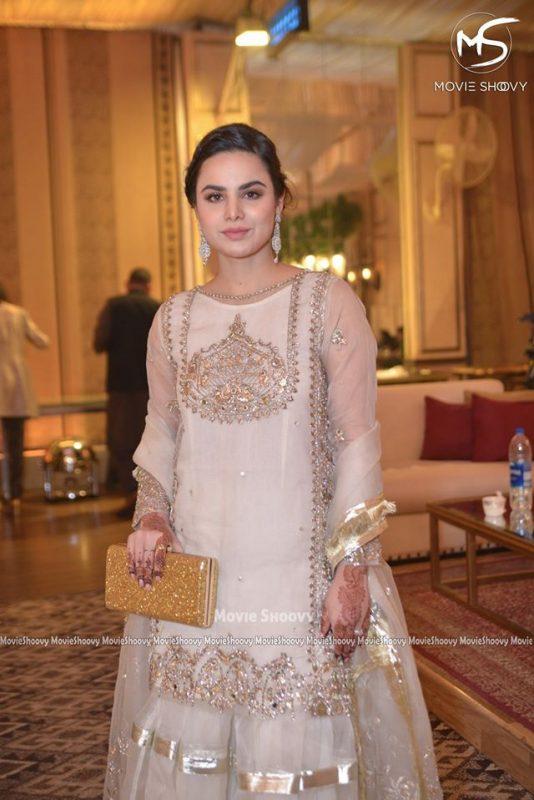 Awesome Fashion Model Sana Sarfaraz Wedding Reception Clicks
