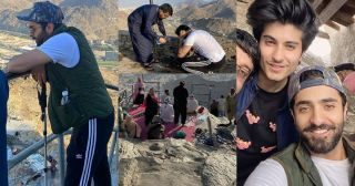 Actor Sheheryar Munawar with Brother Trekked to the Cave of Hira