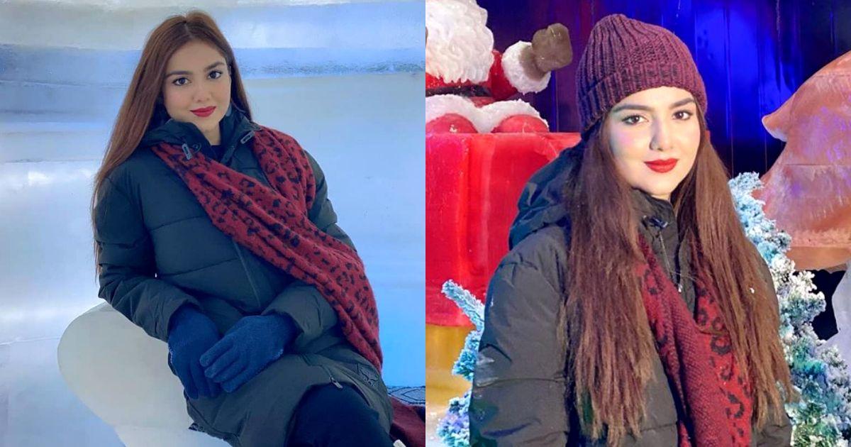 Syeda Tuba Aamir Spotted at Winter Land Karachi