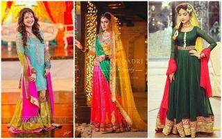 New & Stylish Mehndi Dresses For Pakistani Brides 2020
