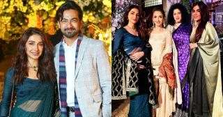 Latest Clicks of Actors Ali Safina with his Wife Hira Tareen at a Recent Wedding Event