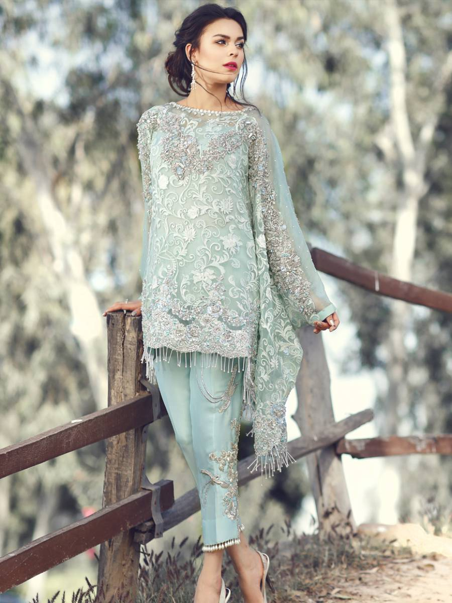 Simple Pakistani Wedding Dress