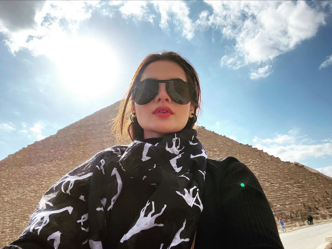 Minal Khan Enjoying Vacations with her Mother in Egypt