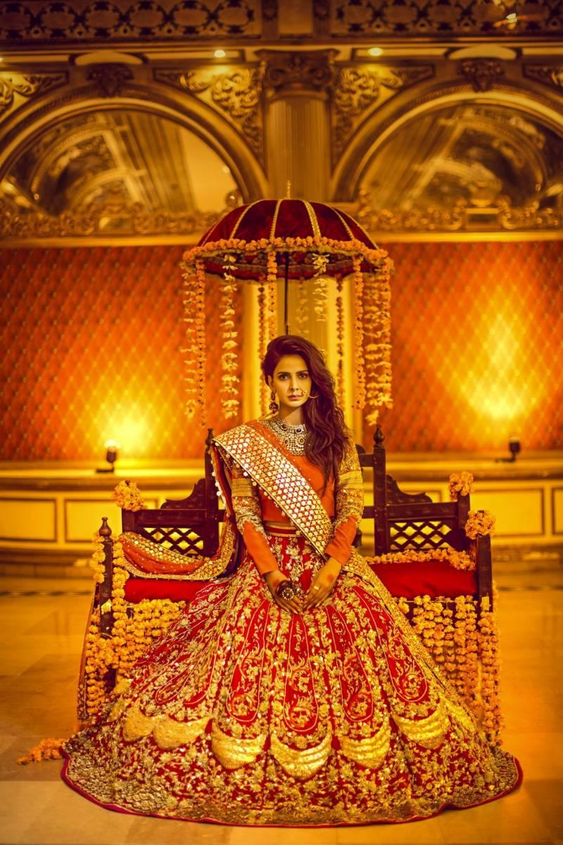 Bridal Mehndi Dress Erum Khan Online