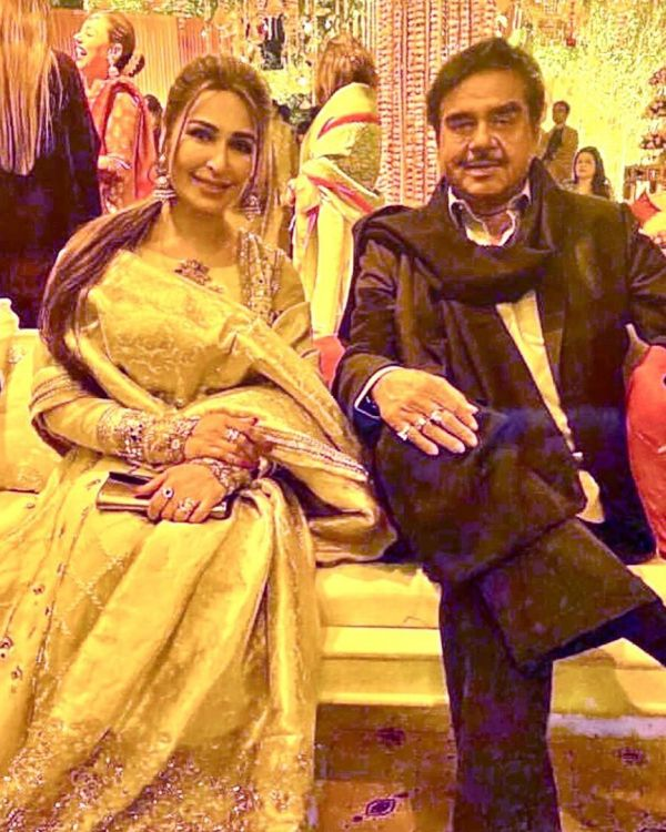 Indian Actor Shatrughan Sinha Spotted with Reema at Wedding Event in Lahore