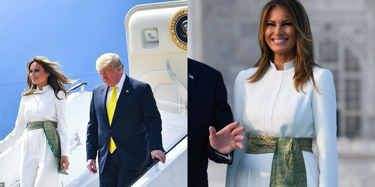 Melania Trump Wears Pakistani Colors In India
