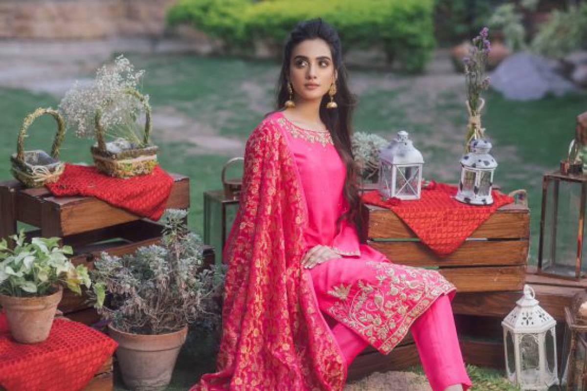 Agha Noor Ravishing Silk Dress