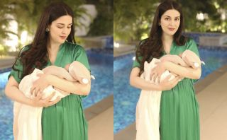 Natasha Khalid Appeared with Her Daughter
