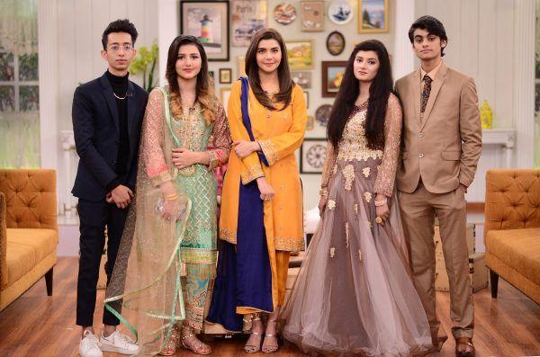 Young Viral Couple Asad And Nimra On The Set Of Good Morning Pakistan