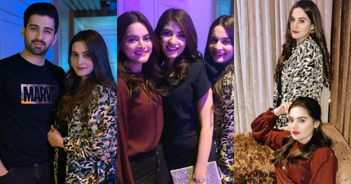 Minal, Aiman and Muneeb Butt Beautiful Clicks from Kinza Birthday Party