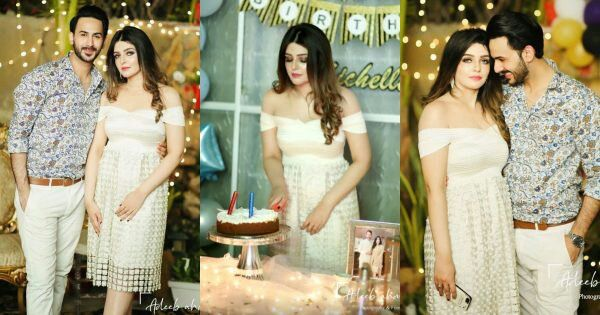 Actor Shan Baig Wife Michelle Awesome Birthday Clicks
