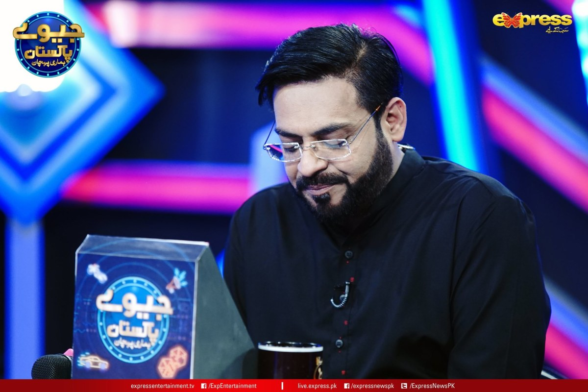 Jeeeway Pakistan Game Show with Dr Aamir Liaquat   Sumbul Iqbal gorgeous Clicks