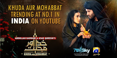 KhudaAurMohabbat trending at no.1 in India on YouTube