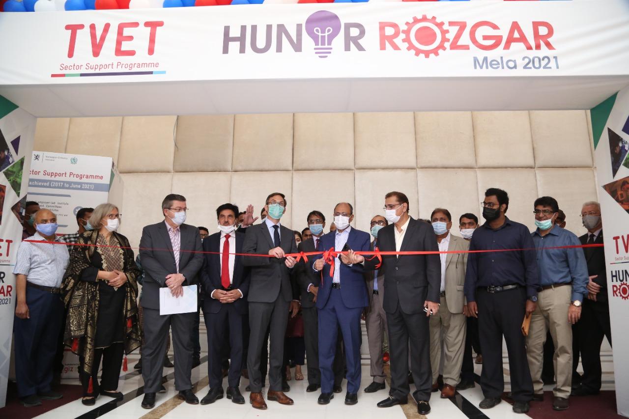 TVET Sector Support Programme organized a Hunar Rozgar Mela 2021 in Sindh