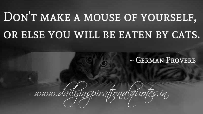 don 39 t make a mouse of yourself or else you will be eaten