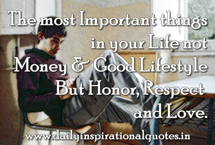 The Most Important Things In Your Life Not Money Good Life
