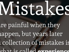 Mistakes are painful when they happen, but years later a collection of mistakes is what is called experience. - Denis Waitley