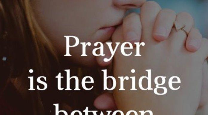 Prayer is the bridge between panic and peace.