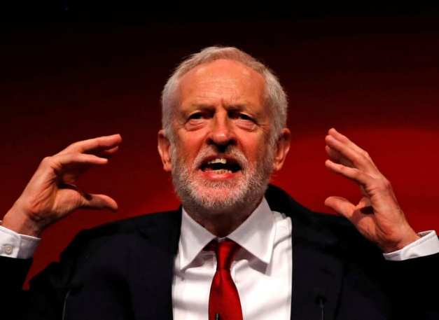 FILE PHOTO: Britain's Labour Party leader Jeremy Corbyn learning to gesticulate like a Jew.