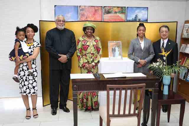 The Rawlingses at the Embassy